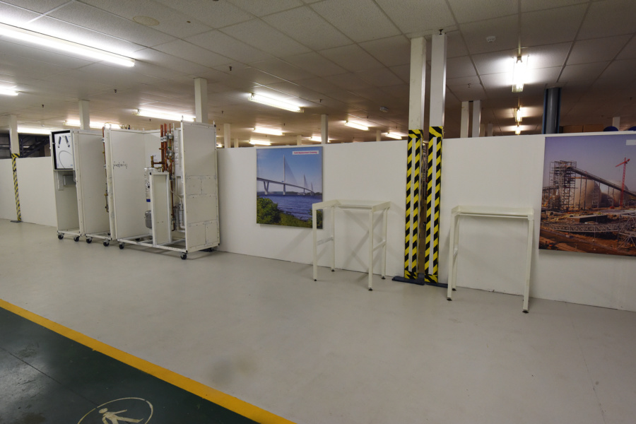 Industrial fit out partition walls