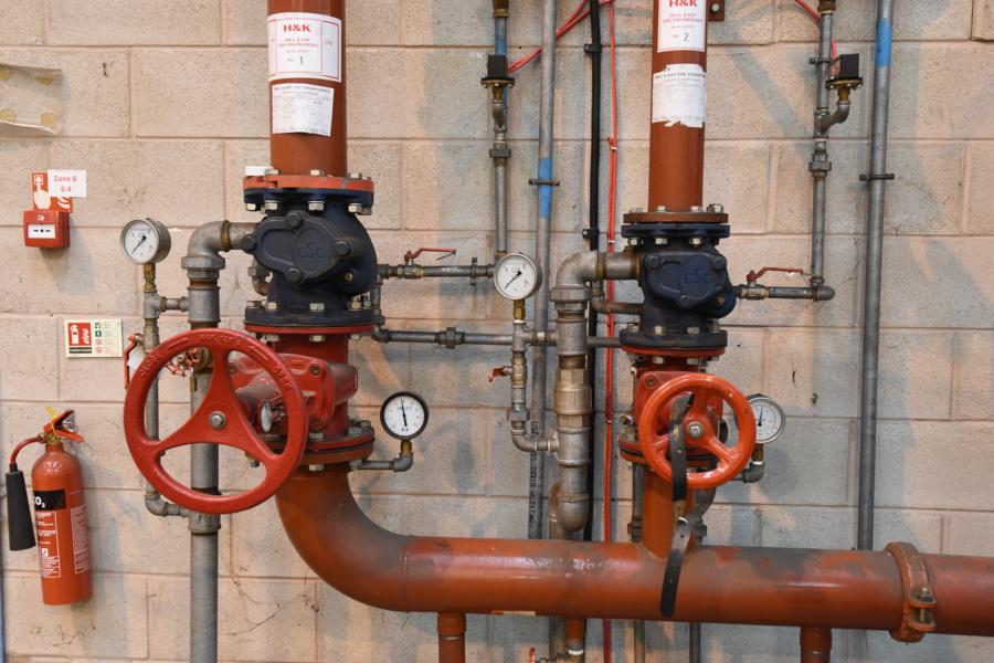 Industrial refurbishment boiler works