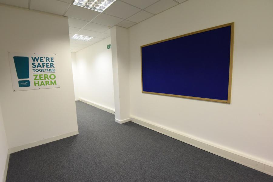 Office refurbishment flooring and lighting