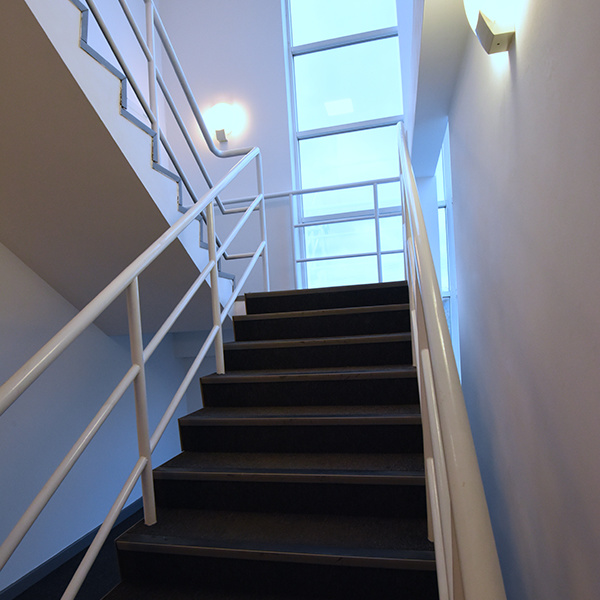 Office refurbishment staircase lighting