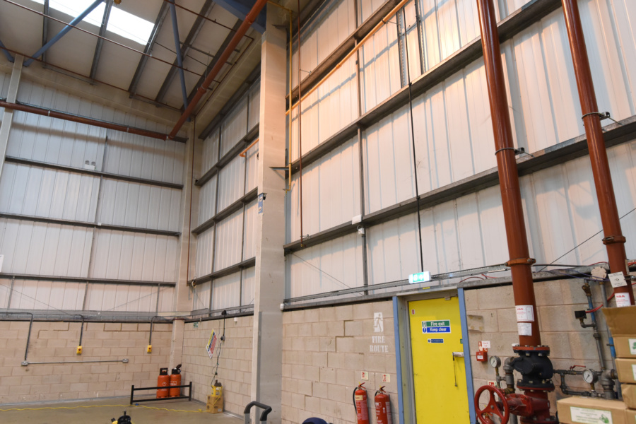 Warehouse refurbishment electrical and heating works