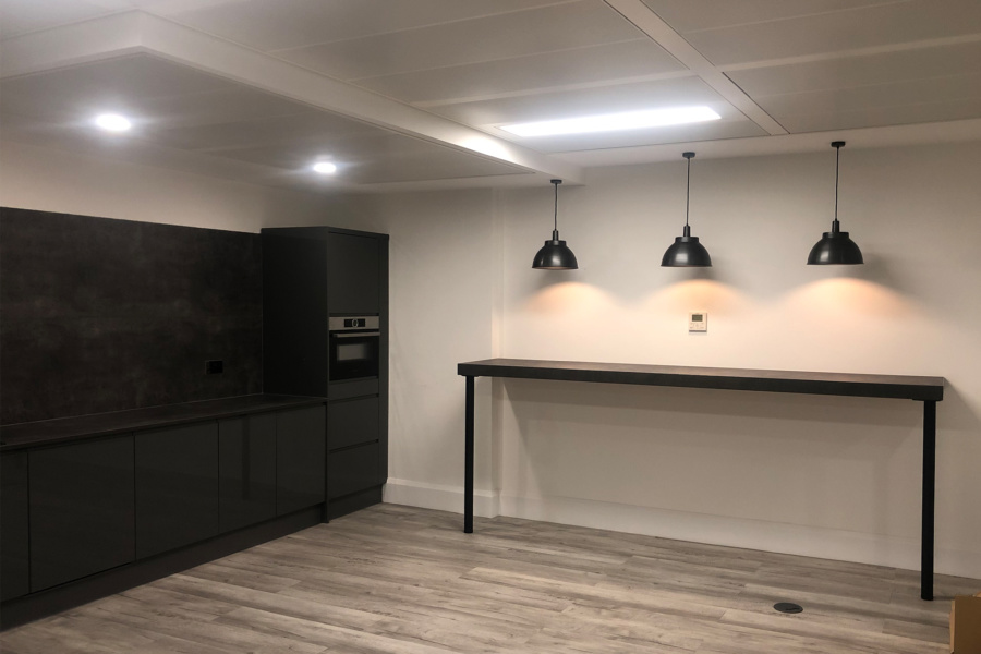 Interflow NRS Group - breakout space lighting